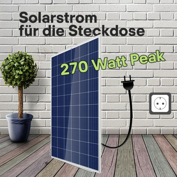 Mini-Solaranlage 270 Wp